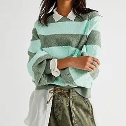 Found My Friend Striped Pullover   Free People (US)