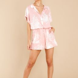 Sweet Connection Light Pink Print Romper | Red Dress