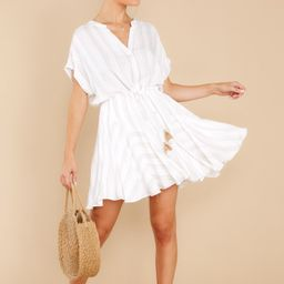 Welcome To My Dreams White Stripe Dress | Red Dress