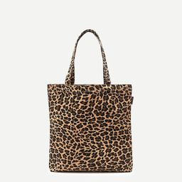 Reusable everyday canvas tote in leopard   J.Crew US