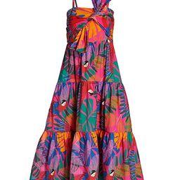 Macaw Print Cotton Midi Dress | Saks Fifth Avenue