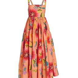 Floral Sea Midi Dress | Saks Fifth Avenue