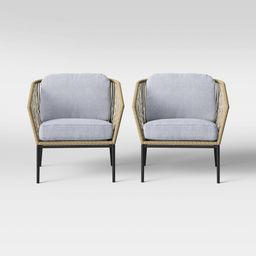 Standish 2pc Patio Club Chair Natural/Gray - Project 62™ | Target