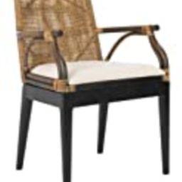 Safavieh Home Gianni Brown Rattan Tropical Woven Arm Chair | Amazon (US)