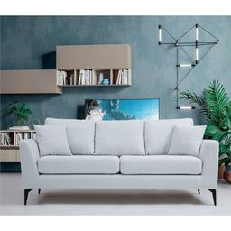 Artem Living Tempo Two Seater Fabric Sofa in White   Walmart (US)