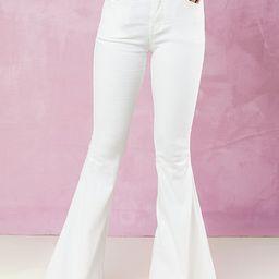 Tennley White Flare Jeans   Altar'd State