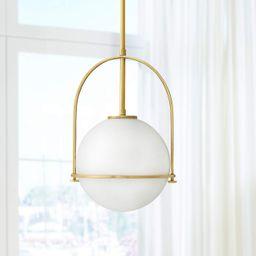 "Hinkley Somerset 11 1/2""W Heritage Brass Mini Pendant Light   LampsPlus.com"