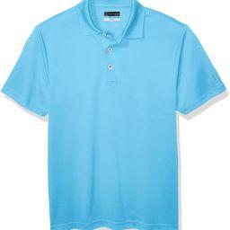 PGA TOUR Men's Airflux Short Sleeve Solid Golf Polo-Shirts | Amazon (US)