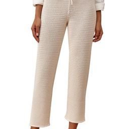 Rosso Open Knit Organic Cotton Pants | Nordstrom