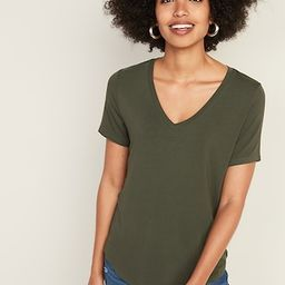 Luxe V-Neck Tee for Women   Old Navy (US)