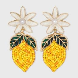 SUGARFIX by BaubleBar Beaded Lemon Drop Earrings - Yellow | Target