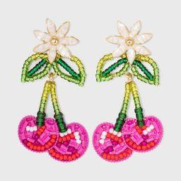 SUGARFIX by BaubleBar Beaded Cherry Drop Earrings - Pink | Target