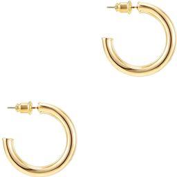 PAVOI 14K Gold Plated Hoop Earrings For Women | 3.5mm Thick Infinity Gold Hoops Women Earrings | ... | Amazon (US)