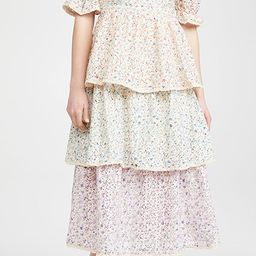 Multi Color 3 Tier Ruffle Dress | Shopbop