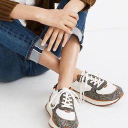 Kickoff Trainer Sneakers in Leather and Spot Mix Calf Hair | Madewell