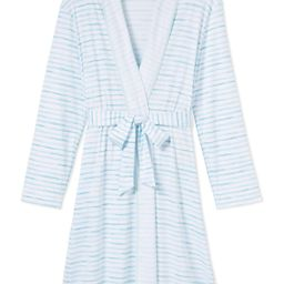 Pima Robe in Sea Breeze | LAKE Pajamas