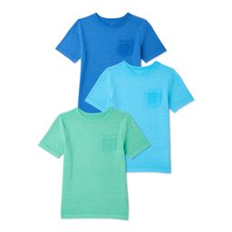 Wonder Nation Boys Jacquard Short Sleeve T-Shirt, 3-Pack, Sizes 4-18 & Husky | Walmart (US)