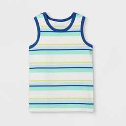 Toddler Boys' Striped Knit Tank Top - Cat & Jack™ Cream   Target