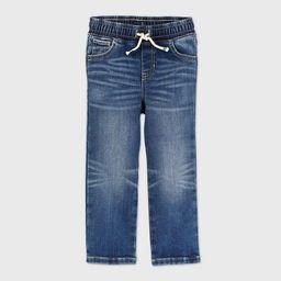 Toddler Boys' Pull-On Brushed Back Straight Leg Jeans - Cat & Jack™ Medium Wash   Target