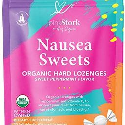 Pink Stork Nausea Sweets: Lite Peppermint, Organic Hard Candy, Nausea Relief + Morning Sickness R... | Amazon (US)