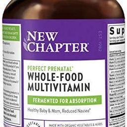 New Chapter Perfect Prenatal Vitamins,192ct, Organic Prenatal Vitamins, Non-GMO Ingredients for H... | Amazon (US)