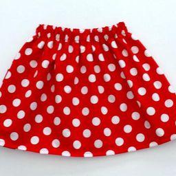 Girls Skirt Polka Dot Skirt Girls Dot Skirt. Minnie Mouse | Etsy | Etsy (US)