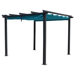 Metz 9' 10'' W x 9' 10'' D Aluminum Pergola with Canopy   Wayfair North America