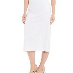 Taylor Stretch Crepe Suiting Midi Pencil Skirt   Dillards