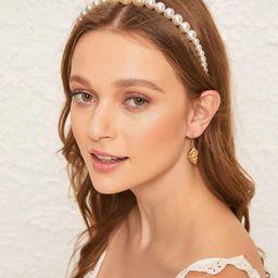 Faux Pearl Design Headband   SHEIN
