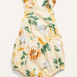 Sleeveless Floral Bubble One-Piece for Baby | Old Navy (US)