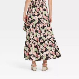 Women's Floral Print Wrap Maxi Skirt - Who What Wear™ | Target