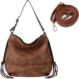 Hobo Purses for Women Ruoxin Vintage Leather Handbags Crossbody Bag   Amazon (US)