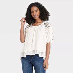 Women's Floral Print Scoop Neck Short Sleeve Top - Knox Rose™ | Target