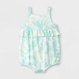 Baby Girls' Tie-Dye Romper - Cat & Jack™ Mint   Target