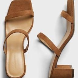 Double Strap Block-Heel Sandal   Banana Republic Factory
