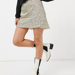 ASOS DESIGN mini satin slip skirt in animal print   ASOS (Global)