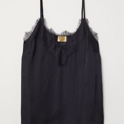 Satin strappy top with lace   H&M (UK, IE, MY, IN, SG, PH, TW, HK, KR)