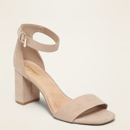 Faux-Suede High-Heel Sandals for Women | Old Navy (US)