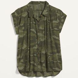 Oversized Camo Short-Sleeve Shirt for Women   Old Navy (US)