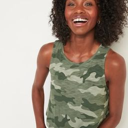 Luxe Printed High-Neck Tank Top for Women   Old Navy (US)