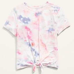 Luxe Short-Sleeve Printed Tie-Hem Tee for Girls   Old Navy (US)