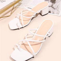 Minimalist Strappy Thong Sandals | SHEIN
