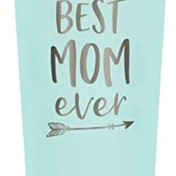 SassyCups Best Mom Ever Tumbler | 22 Ounce Engraved Mint Stainless Steel Tumbler with Lid and Str... | Amazon (US)