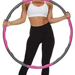 VETUPIC Weighted Exercise Hoops for Adults Weight Loss, 2 Lbs Fitness Hoop, 8 Section Detachable ... | Amazon (US)