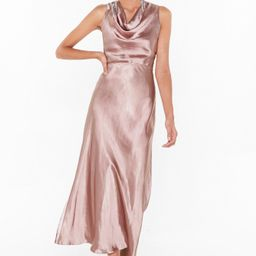 Womens Cut-Out to Party Satin Cowl Dress - Blush   NastyGal (US & CA)
