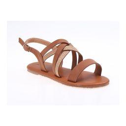 Nanette Lepore Girls Girls' Sandals Brown - Brown Shimmer Sandal - Girls   Zulily
