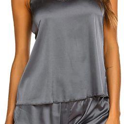 Ekouaer Sleepwear Womens Sexy Lingerie Satin Pajamas Cami Shorts Set Nightwear   Amazon (US)