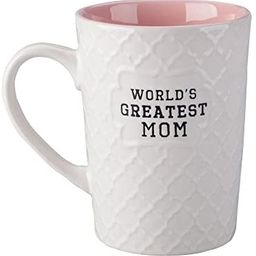 Ynsfree-World's Greatest Mom-16 OZ Coffee And Tea Cups-For mom,lady, wife,Valentine's Day or Anni...   Amazon (US)
