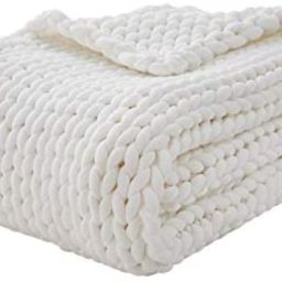 YnM Knitted Weighted Blanket, Hand Made Chunky Knit Weighted Throw Blanket for Sleep, Stress or H...   Amazon (US)