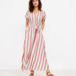 Striped Pocket Maxi Shirtdress | LOFT | LOFT